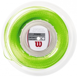 Wilson Synthetic Gut Power 16g Lime Green Tennis String (Reel)
