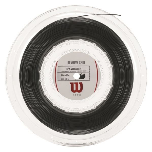 Wilson Revolve Spin 16g Black Tennis String (Reel)