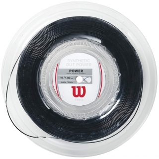 Wilson Synthetic Gut Power 16g Black Tennis String (Reel)