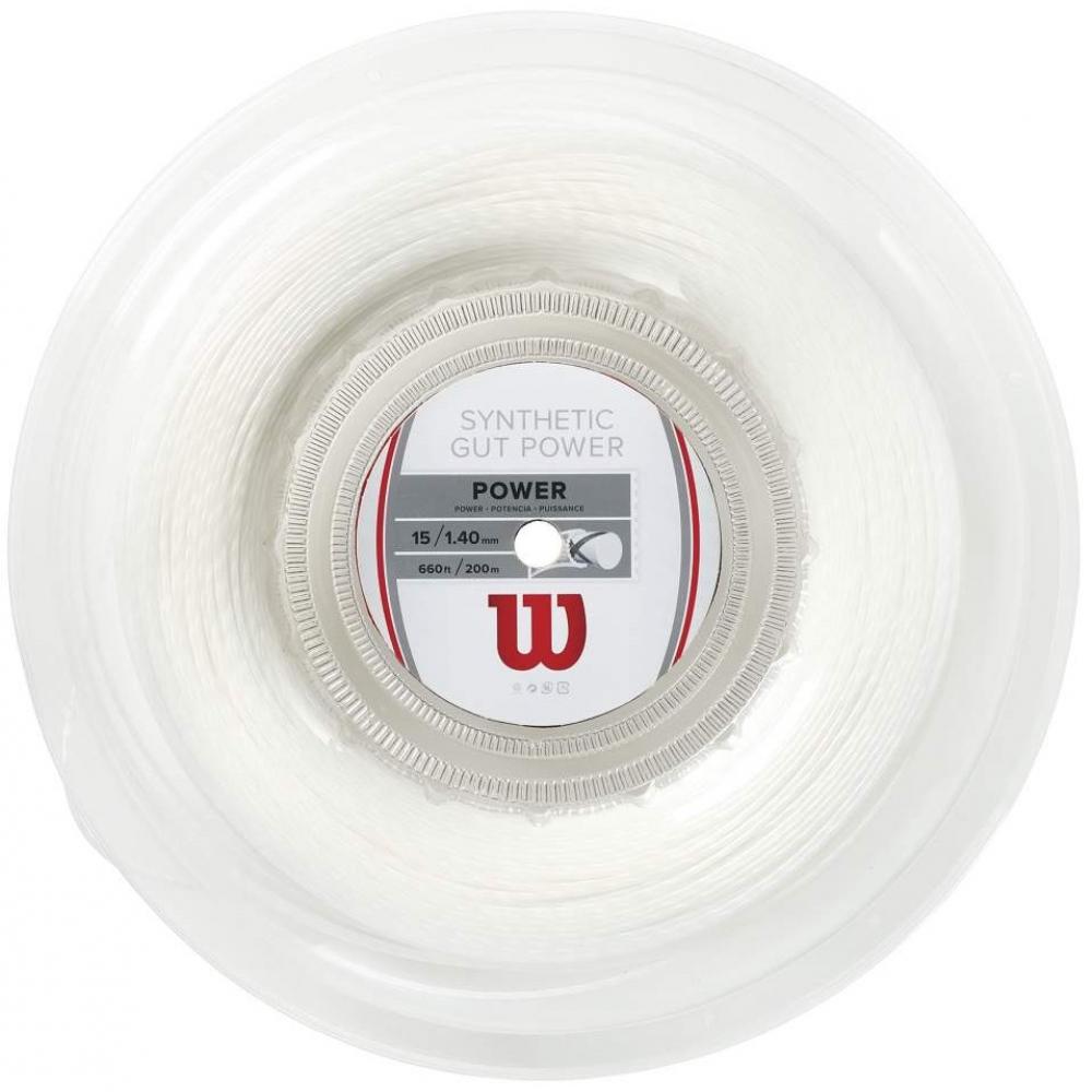 Wilson Synthetic Gut Power 17g White Tennis String (Reel)