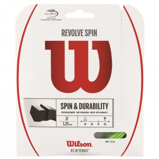Wilson Revolve Spin 17g Tennis String Green (Set)