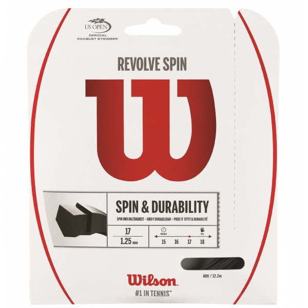 Wilson Revolve Spin 17g Tennis String Black (Set)