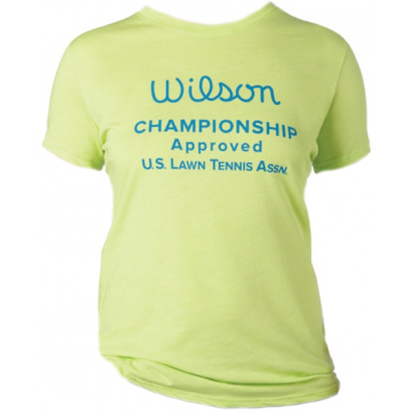Wilson Women's Champ Approved Crew (Yellow/ Blue)