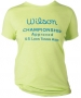 Wilson Women's Champ Approved Crew (Yellow/ Blue) - Women's Tops T-Shirts & Crew Necks Tennis Apparel
