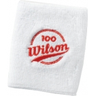 Wilson 100 Year Double Wristbands (White) - Wilson Headbands & Writsbands Tennis Apparel