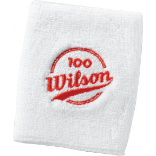 Wilson 100 Year Double Wristbands (White)