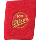 Wilson 100 Year Double Wristbands (Red) - Wilson Headbands & Writsbands Tennis Apparel