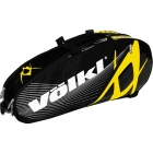 Volkl Team Combi 6-Pack Bag (Black / Yellow) - Volkl Team Series Tennis Bags