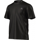 Adidas Men's Clima Ultimate Tee (Black) - Tennis Apparel