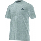 Adidas Men's Clima Ultimate Tee (Light Grey) - Tennis Apparel