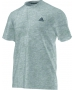 Adidas Men's Clima Ultimate Tee (Light Grey) - New Style Tennis Apparel