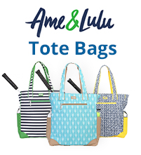 Ame and Lulu Tennis Tote Bags