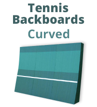 Curved Tennis Backboards - Tennis Training Wall