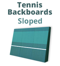 Sloped Tennis Backboards - Tennis Training Wall