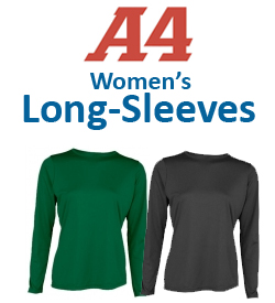 A4 Women's Long-Sleeve Shirts Tennis Apparel