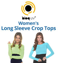 BloqUV Womens Long Sleeve Sun Protective Crop Tops