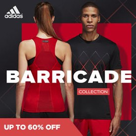Sale: Adidas Barricade Apparel and Shoes
