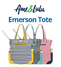 Ame and Lulu Emerson Tennis Tote Bags