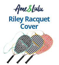 Ame & Lulu Riley Tennis Racquet Cover