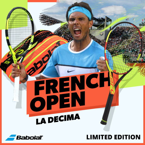 Babolat French Open Tennis Racquets, Bags and Accessories