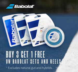 Buy 3, Get 1 Free Babolat Tennis String Sets and Reels