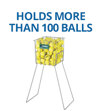 Holds more than 100 balls