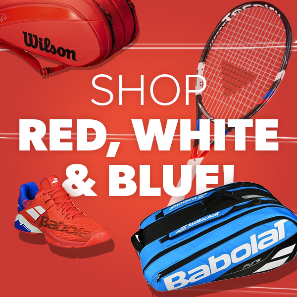 Red, White & Blue Tennis Gear