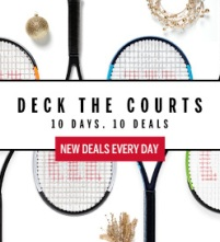 Wilson December Deals on Tennis Racquets, Bags, String, Grip