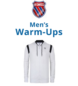 K-Swiss Men's Warm-Ups Tennis Apparel