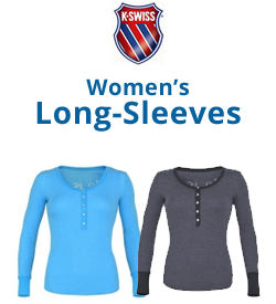 K-Swiss Women's Long-Sleeve Shirts Tennis Apparel
