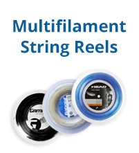 Multifilament Tennis String Reels