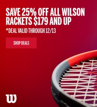Save 40% on Wilson Performance Tennis Racquets $179+