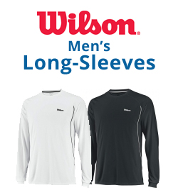 Wilson Men's Long-Sleeve Shirts Tennis Apparel