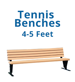 Tennis Benches 4-5 Feet