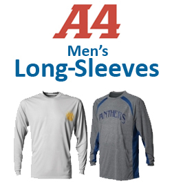 A4 Men's Long-Sleeve Shirts Tennis Apparel