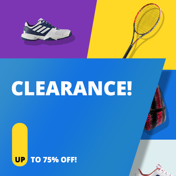 Clearance Section! Discount Prices on Premium Tennis Gear