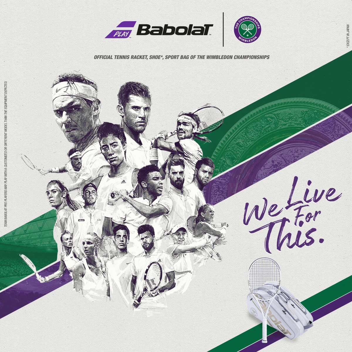 2019 Babolat Grand Slam Racquets, Bags and Accessories
