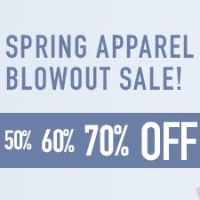 Spring Tennis Apparel Blowout Sale