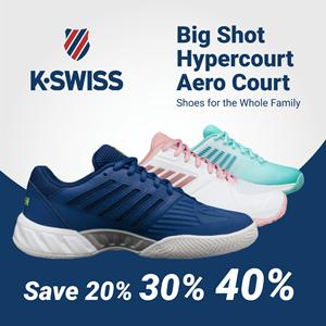 K-Swiss Tennis Shoes Black Friday Cyber Monday Sale