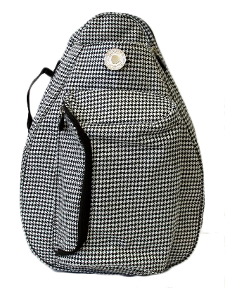 Jet Hounds Tooth Knockoff Tennis Backpack