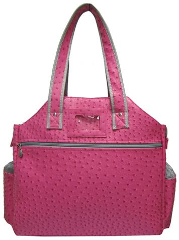 Jet Ostrich Bold Pink Tennis Tote Bag