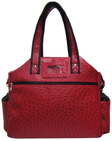 Jet Ostrich Crimson Tennis Tote Bag