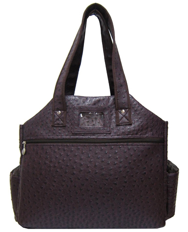 Jet Ostrich Eggplant Tennis Tote Bag