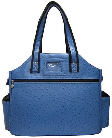 Jet Ostrich Blue Steel Tennis Tote Bag