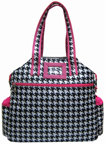 Jet Large Hounds Tooth Tennis Tote Bag