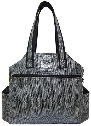 Jet Salt and Pepper Tennis Tote Bag