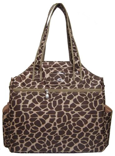 Jet Brown Giraffe Tennis Tote Bag