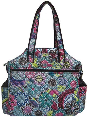 Jet Thai Spices Quilted Tennis Tote Bag