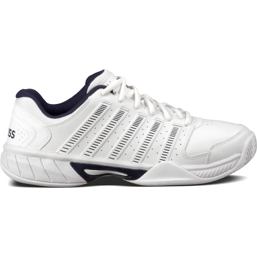K Swiss Men S Express Leather Tennis Shoes White Navy Do It Tennis