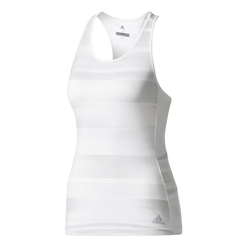 Adidas Women's Advantage Trend Tennis Tank (White/Grey)